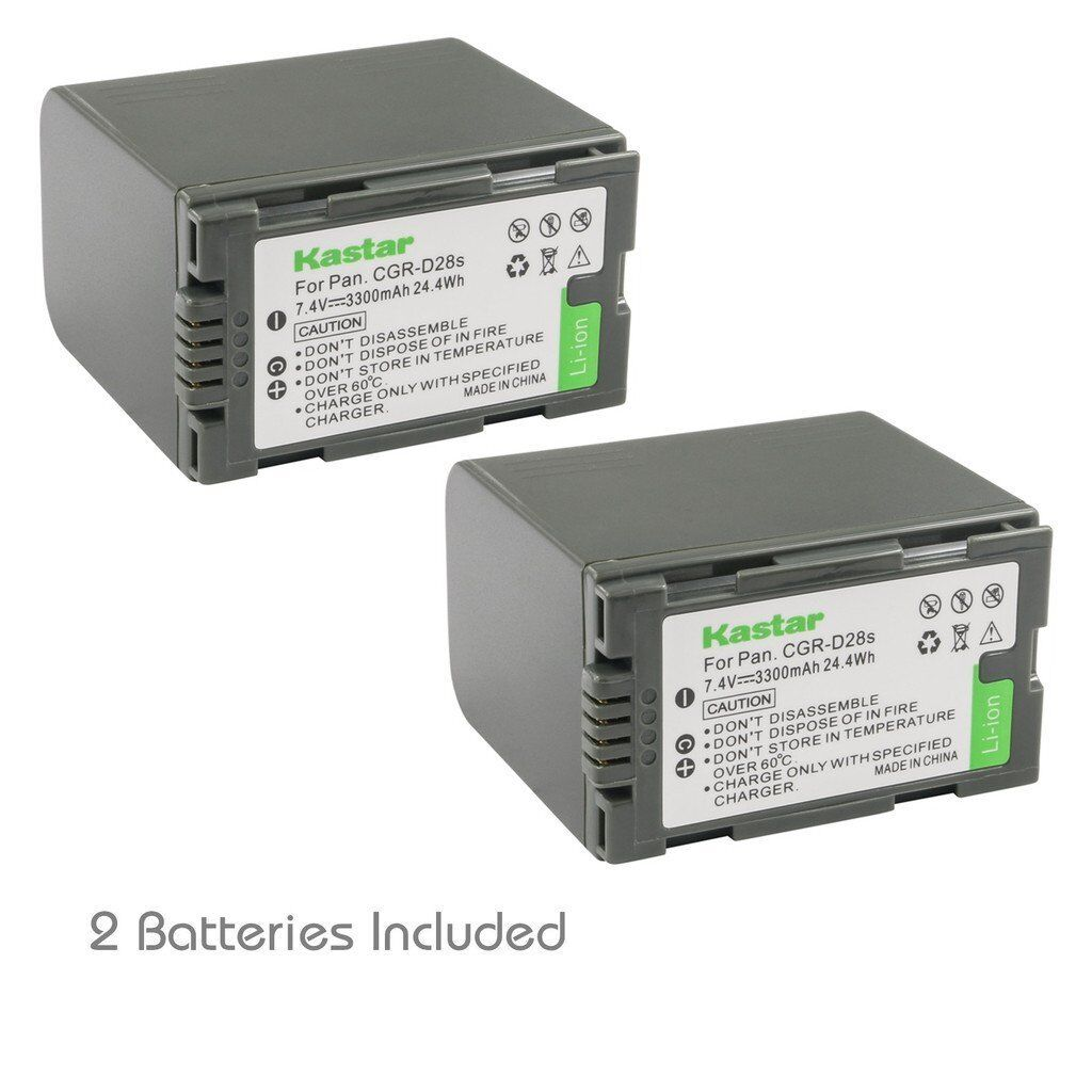 2x Kastar Battery For Panasonic Cgr-d28 Ag-dvc30 Ag-dvc32...