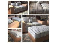 NEW SOFA. 3 & 2 & F/Stool (3 Seater- sofabed)