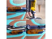 Rechargeable Hand Held and Upright 2 in 1 Cordless Vacuum Cleaner clean and good condition