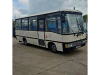 Left hand drive Toyota Coaster BB30L 3.4 diesel 28 seats bus.