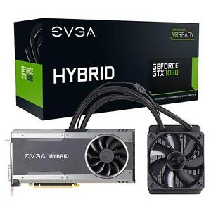 EVGA GeForce GTX 1080 FTW HYBRID GAMING, 8GB GDDR5X, RGB LED, All-In-One Watercooling with 10CM FAN, 10 Power Phases, Do