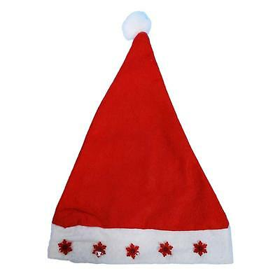 Flashing Christmas Hats (Musical/Flashing Santa Claus Hat Light LED Xmas Holiday Adults/Teens/Kids)