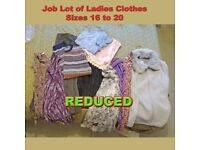 REDUCED - Job Lot of Ladies Clothes Sizes 16-22: M&S, French Connection, Blouses, Fleece