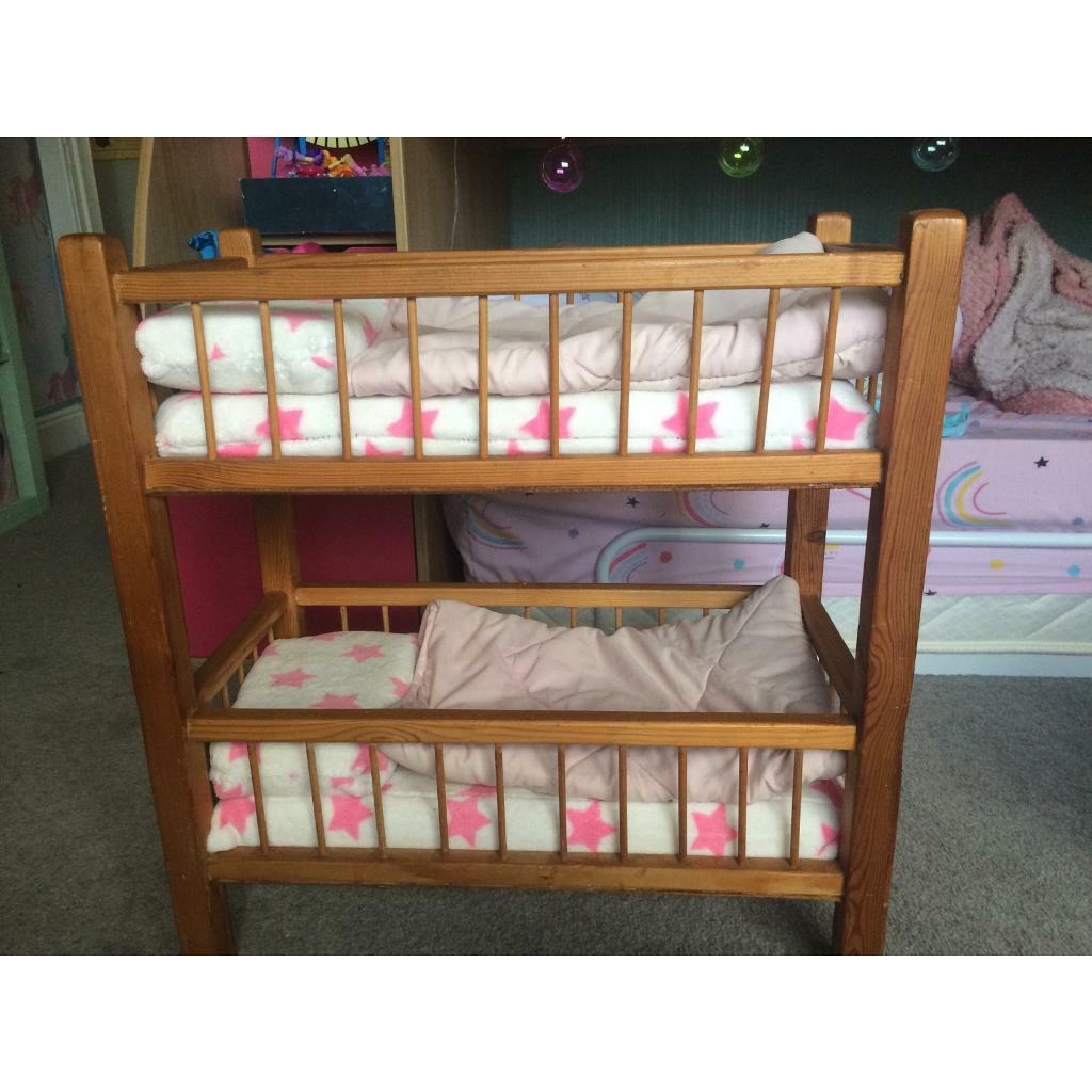 Baby Doll Bunk Bed With Handmade Bedding In Newcastle Tyne