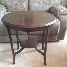 Mahogany Oval Hall Table