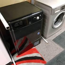 black indesit condenser dryer ( 6 MONTHS WARANTY)
