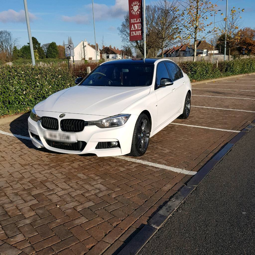 2013 13 PLATE BMW 318D M SPORT IN WHITE WITH BLACK GLOSS
