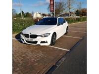 2013 13 PLATE BMW 318D M SPORT IN WHITE WITH BLACK GLOSS ROOF