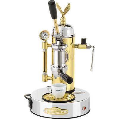 Elektra Micro Casa Chrome Brass Manual Lever Espresso Cappuccino Machine 220v