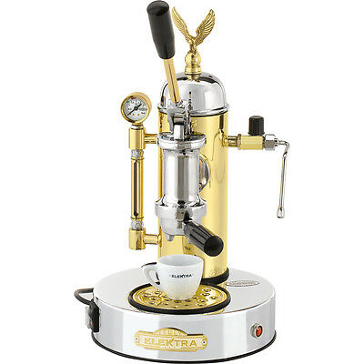Elektra Micro Casa Chrome Brass Manual Lever Espresso & Cappuccino Machine 110V