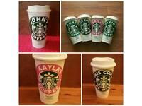 Personalised Reusable Starbucks 16 oz coffee cup