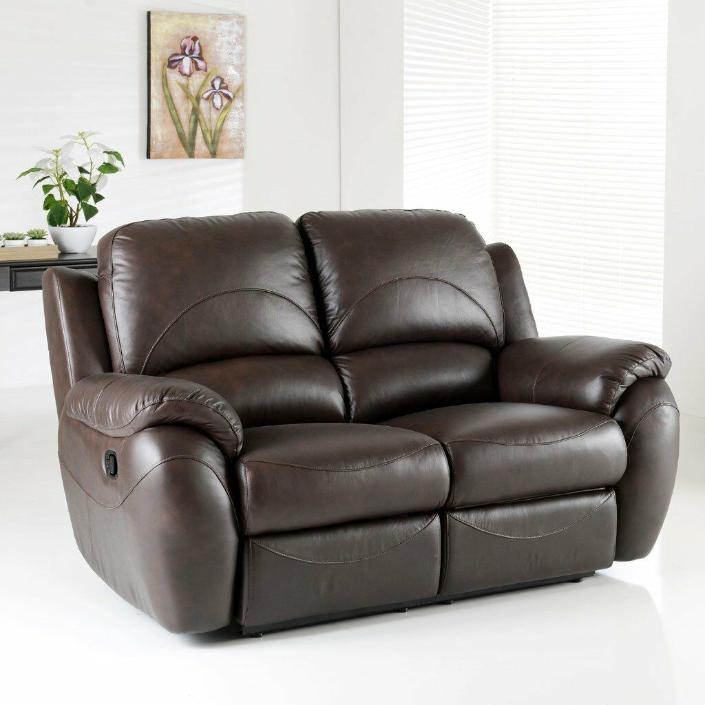 La z boy cool power leather 2 seater with 2 reclining chairs - La Z Boy Atlanta 2 Seater Power Recliner Brown Leather Sofa