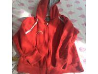 Rainbow zip hoodie size medium