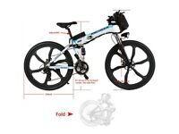 NEW Folding E-Bike 26 inch 36V 250W Battery with charger - Shimano Gear and Premium Full Suspension