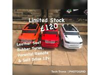 Range Rover Style In Orange, Red, White, Rubber Tyres & Leather Seats