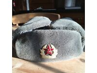 Russian army officers hat. A real head warmer.