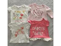 Baby girl 3-6 months tops bundle clothing.