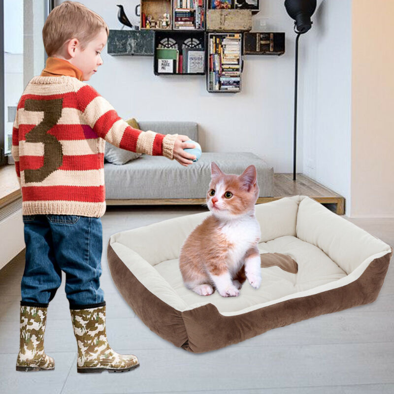 Large Pet Bed for Dog Cat Crate Mat Soft Warm Pad Liner Home