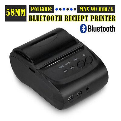 Bluetooth Thermodrucker Bondrucker Wireless Kassendrucker Drucker Thermo 58mm