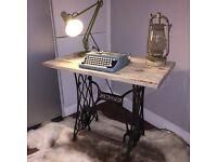 Antique / vintage singer sewing table / desk