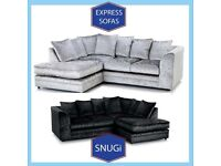 🈲New 2 Seater £169 3S £195 3+2 £295 Corner Sofa £295-Crushed Velvet Jumbo Cord Brand ⶥA9