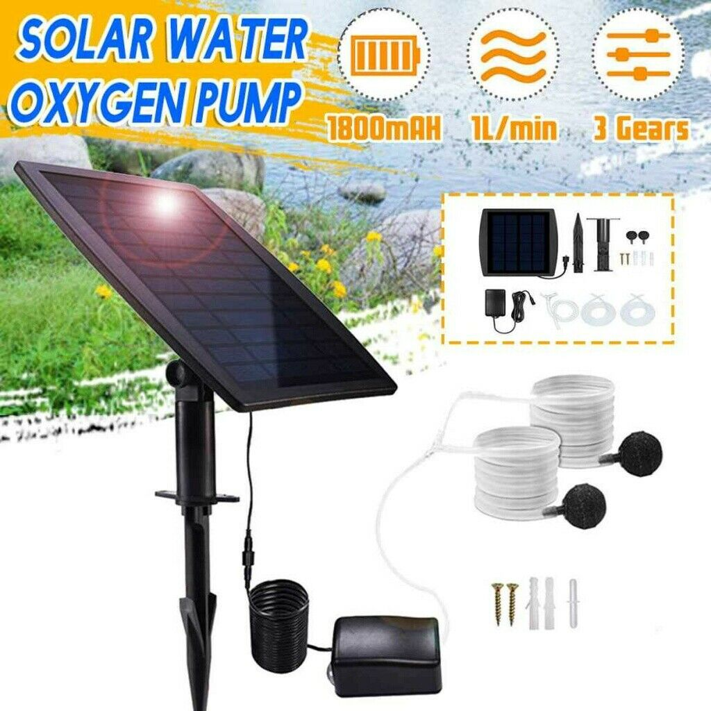 solar powered oxygenator oxygen aerator fish tank
