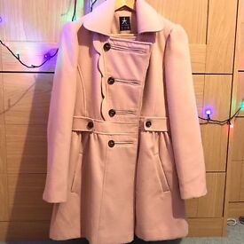 Womens Ladies Pink Peach Trench Coat Size 14 by Primark