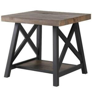 Rustic Oak End Table Sale-WO 7549 (BD-2589)