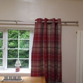 Curtains from Next, Tweedy Check Morcott Red, used for 6 months only. 2 sets available
