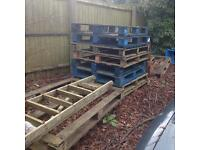Free about 12 pallets to collect