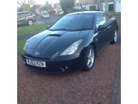 TOYOTA CELICA VVTI COUPE (03) BLACK LEATHER TRIM,HPICLEAR.