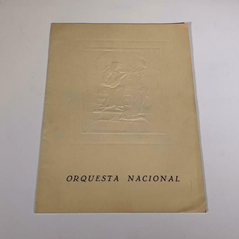 Original 1958 Program ANDRES SEGOVIA w/ National Orchestra Enrique Jorda - Spain