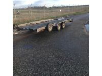 Indespension twin axle car transporter trailer