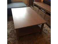 Ikea Hemnes coffee table grey / brown wash
