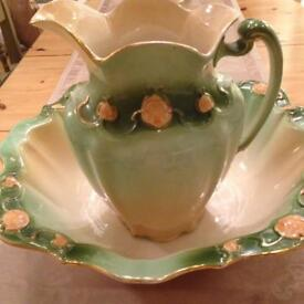 Edwardian vintage jug and bowl