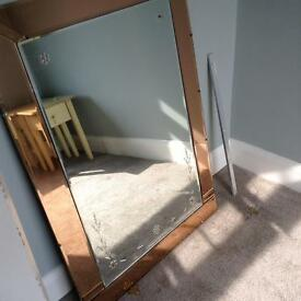 Antique Art Deco mirror