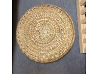 IKEA wicker footstool