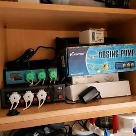 Dosing pumps, gyre, wp40, UV, reactors for marine aquarium