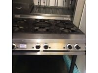 Falcon Dominator 6 Ring Gas Cooker With Undershelf