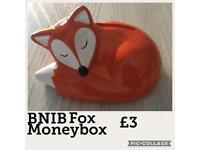 BNIB Sleeping Fox Money Box 2