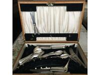 old cutlery with box