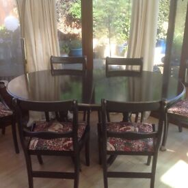 BLACK DECO DINING TABLE & 6 CHAIRS !!!!!!!