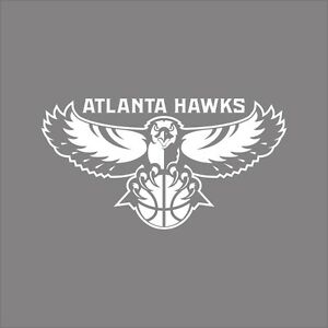Atlanta Hawks Nba Team Logo 1color Vinyl Decal Sticker Car