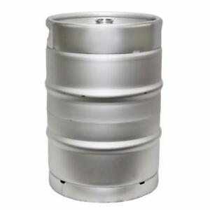 1/2 - Barrel-Stainless-Steel-Commercial-Beer-Half-Keg-15-5-Gallon- FREE SHIPPING