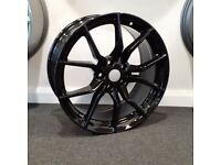"""18"""" Ford RS style (Black) alloys wheels and tyres (5x108) Suit Ford Models Focus,Mondeo,Connect etc"""