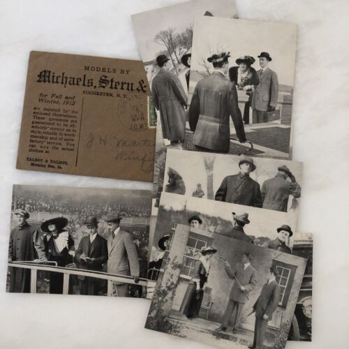 1912 MENS FASHION Clothing GREAT IMAGES Michaels Stern ADVERTISING Antique