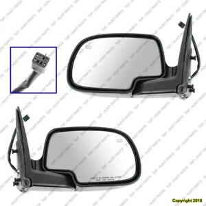 Door Mirror Power Passenger Side Heated Man Fold Without Puddle Lamp Ptm Chevrolet Silverado 1999-2002