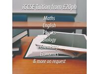 GCSE 9-1/iGCSE Tutor in Maths & Sciences from £20ph