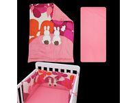 toTs by smarTrike Joy Sateen Pink Rabbits Bedding Set