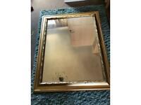 Large gold framed mirror - apx 3ft x 4ft